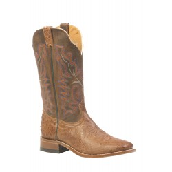 Boulet Smooth Mad-Dog Ranger Ostrich - Wide square toe boot 3500