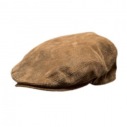 Outback's -LEATHER ASCOT CAP