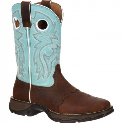 LADY REBEL BY DURANGO WOMEN'S POWDER N' LACE SADDLE WESTERN BOOT