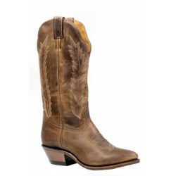 "Boulet 13"" Ladies HillBilly Golden Medium Cowboy Toe Boot 9026"
