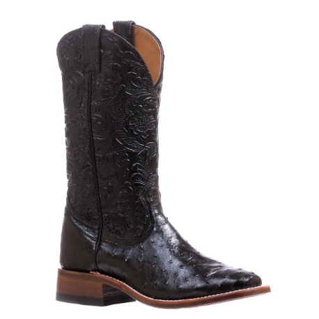 Boulet Ladies Ostrich wide square toe boot 5525