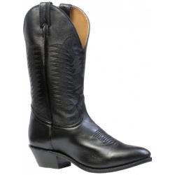 Boulet Mens Sporty Black Deer Tan Medium cowboy toe Boot 9502