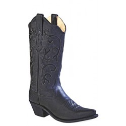 Old West Ladies Black Fashion Wear Boot LF1579
