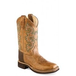 Old West BSY1821 Youth Broad Square Toe Boots