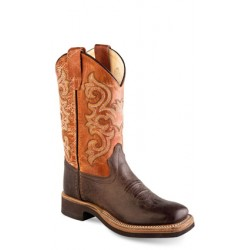 Old West BSY1823 Youth Broad Square Toe Boots