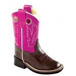 Old West Toddler-Girls' Western Cowboy Boot Square Toe - Bsi1851
