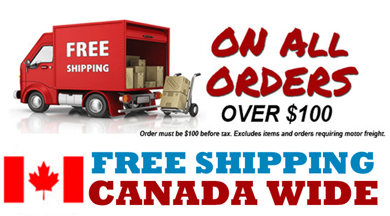 FREE CANADA WIDE SHIPPING OVER $100