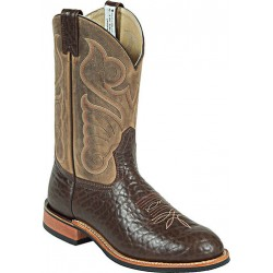 "Chocolate Bullhide/Crazy Bayou 11"" 8510 Canada West FIne RIb Soles Men's BRAHMA EZ-Flex Ropers"