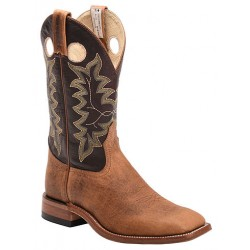 "Tan Buffaloco Bison/Barcelona Brown 12"" 8196 Canada West Brahma Ranchman Ropers"
