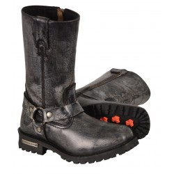"Milwaukee MBM9006/MBM9006W Men's Distressed Gray 11"" Inch Classic Harness Square Toe Boot"