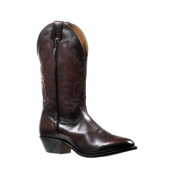 Boulet Mens Palaermo Black Cherry medium cowboy toe boot 7027
