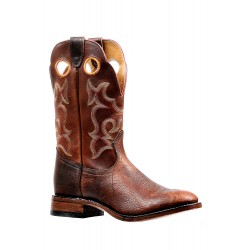 Boulet Mens Bisonte Utta Whiskey Grizzly Sand Wide Square Toe Boots 6322