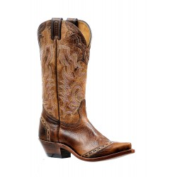 "Boulet 13"" Ladies Damian Moka Damasko Taupe Snip toe boot 6611"
