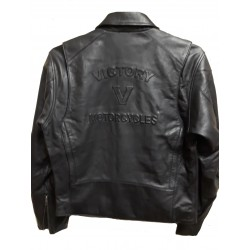 Mens Branded, Black Soft Leather Casual Jacket