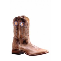 "Boulet 10"" Mens Dublin Taupe Wide Square toe boot 7182"