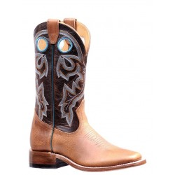 "Boulet Ladies 13"" BISON Vintage Rust Damiana Moka Wide Square Toe Boot 7224"
