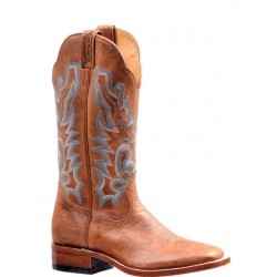 "Boulet Ladies 13"" BISON Vintage Rust Wide Square Toe Boot 7227"