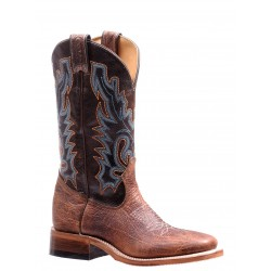 "Boulet 13"" Ladies Double Stitch Bison Shrunken Bomber Damiana Moka Wide Square Toe Rider Sole Boot 7247"