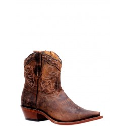 """Boulet's 5"""" Rugged Country Ladies Cognac pull-up Leather Sole Snip toe 6791"""