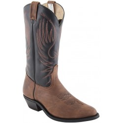 "Men's 13"" Alamo Tan/Black Urethane 6983 Canada West Bullriders"