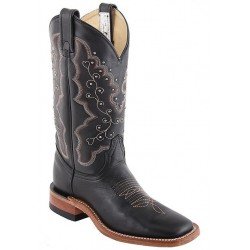 "Black Micchatto 12"" Canada West 4108 Ladies BRAHMA Ropers"