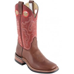"Pecan Tumbled/Sly fox RedArizona Cafe/Daly Cafe 11"" Canada West 4113 Ladies BRAHMA Ropers w Vibram sole"