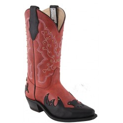 "Sly Fox Red/Black Manchester 12"" 3099 Ladies Canada West Westerns"