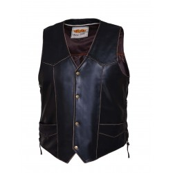 Men's Vintage Brown Leather Vest