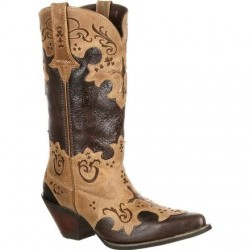 CRUSH BY DURANGO WOMEN'S DCRD138 Cross Overlay Western Boot