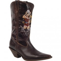 "Crush by Durango Women's RD011 Dark Brown 12"" Pin Up Western Boot"