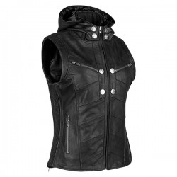 HELL'S BELLES™ LEATHER VEST Black by Speed & Strength