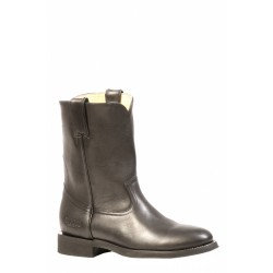 """Boulet's Rugged Country 8"""" Mens Waxy Blck Leather Round Toe boot 2505"""
