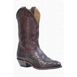 Boulet's 4 Piece Smooth Cigar Ostrich medium cowboy toe boot 1505 brown
