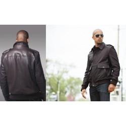 Fashion Leather Jacket WBM2040 black