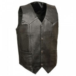 Plain Cheap - Economy Leather Vests Mens