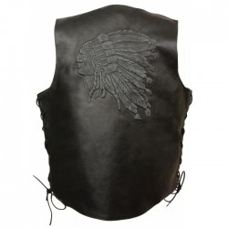 Indian Head Leather Vest