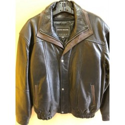 Leather bomber style jacket 47533