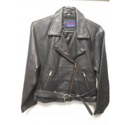 Womens MICHIGAN Cowhide Motorcycle Jacket