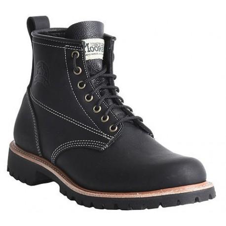 "men's wm moorby footwear 2814 black loggertan 6"" quarters"