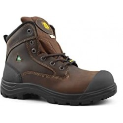 "Tiger Men's Safety Boots Steel Toe Waterproof CSA Approved Lightweight 6"" Leather Work Boots 7666"