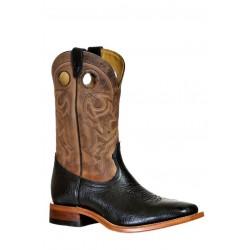 Boulet 9340 Shoulder Black Wide Square Toe Boots