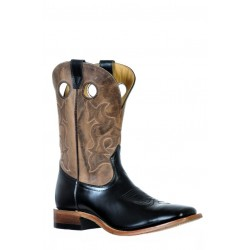 Boulet 9702 Genesis Black Natural Rowdy Wide Square Toe Boots
