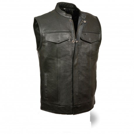 Club Vest with Snap/ zip MV 316- Black Lining