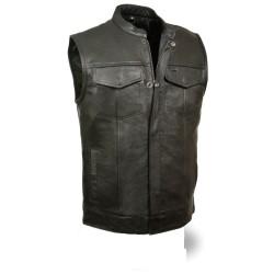Club Vest with Snap/ zip MV 316- Black Lining