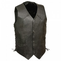 Premium Leather VEST with adjustable Laces on side