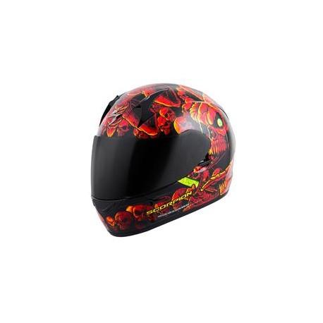 Scorpion Exo R410 Dr. Sin Red/Yellow Full-Face Helmet