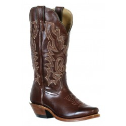 Boulet 9364 Ladies Ranch Hand Tan Cutter Toe Boots