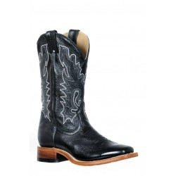 Boulet 9371 Ladies Silky Black Wide Square Toe Boots