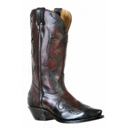 Boulet 9603 Ladies Palermo Black Cherry Snip Toe Boots