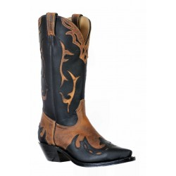 Boulet 9611 Ladies HillBilly Golden/Grasso Black Snip Toe Boots